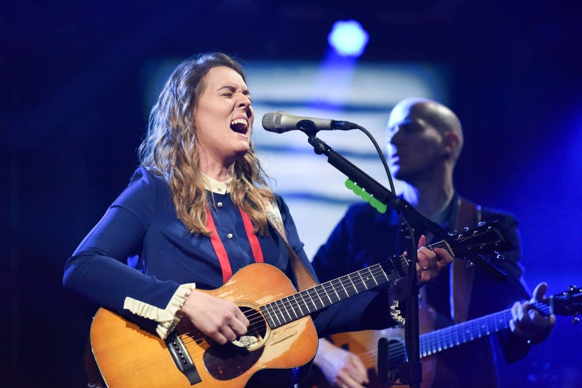 Brandi Carlile performs on 'The Late Show with Stephen Colbert'