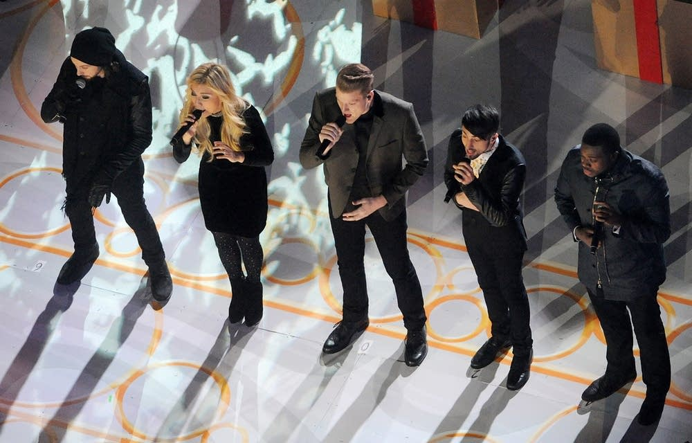 Pentatonix perform at Rockefeller Center