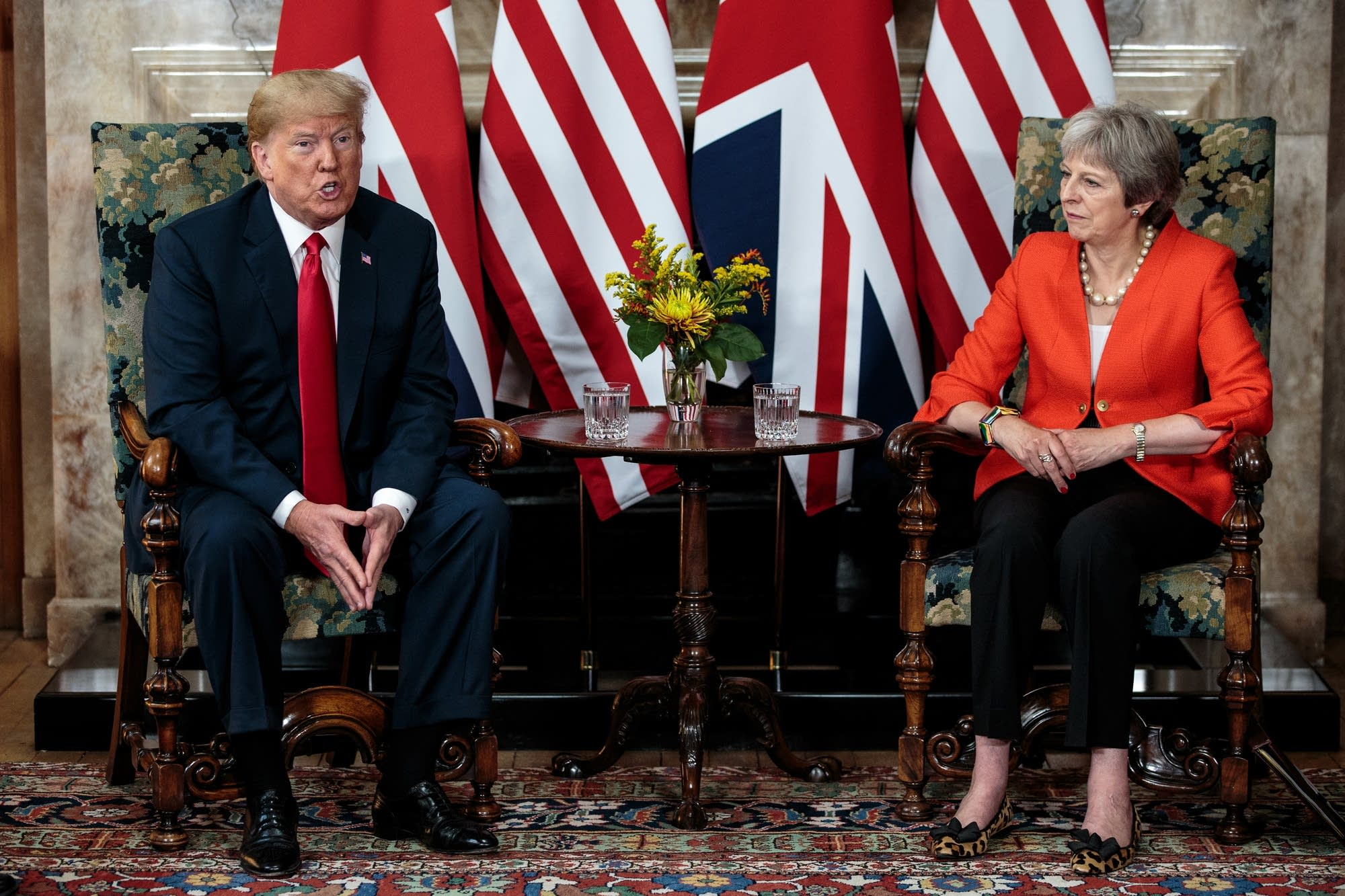 President Trump and British Prime Minister Theresa May.