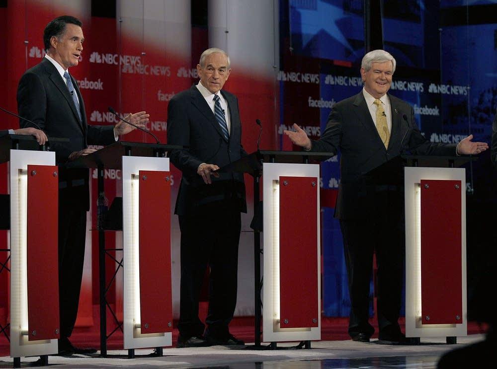 Mitt Romney, Ron Paul, Newt Gingrich