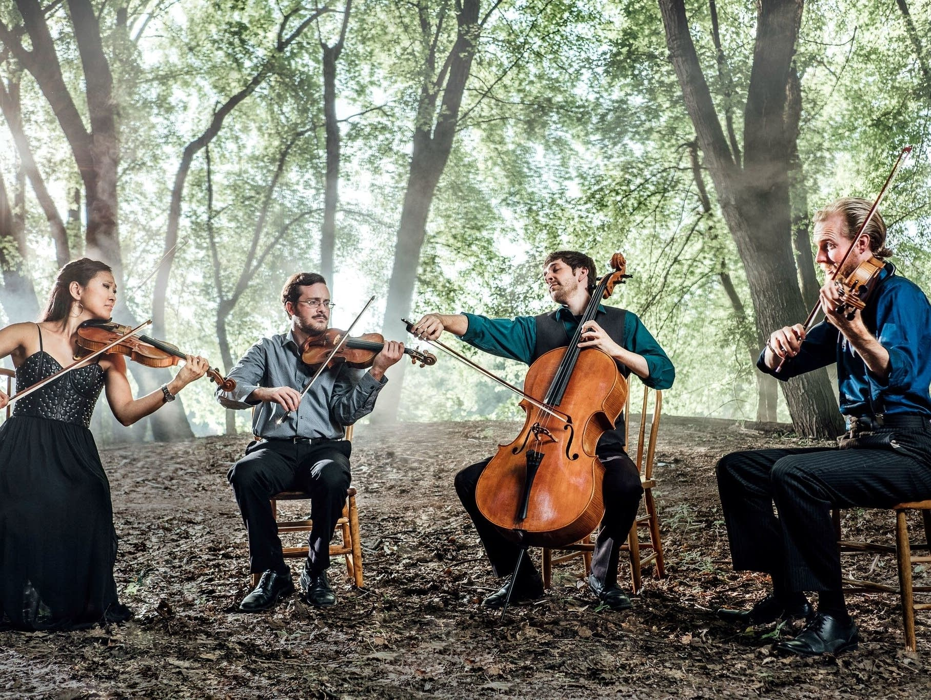 Lux String Quartet with Eric dramatic woods take 2