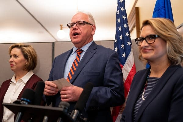Governor-elect Tim Walz answers questions