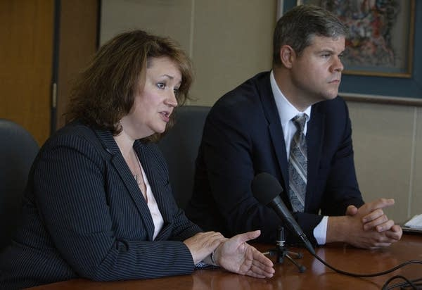 Assistant Hennepin County Attorneys Amy Sweasy and Patrick Lofton