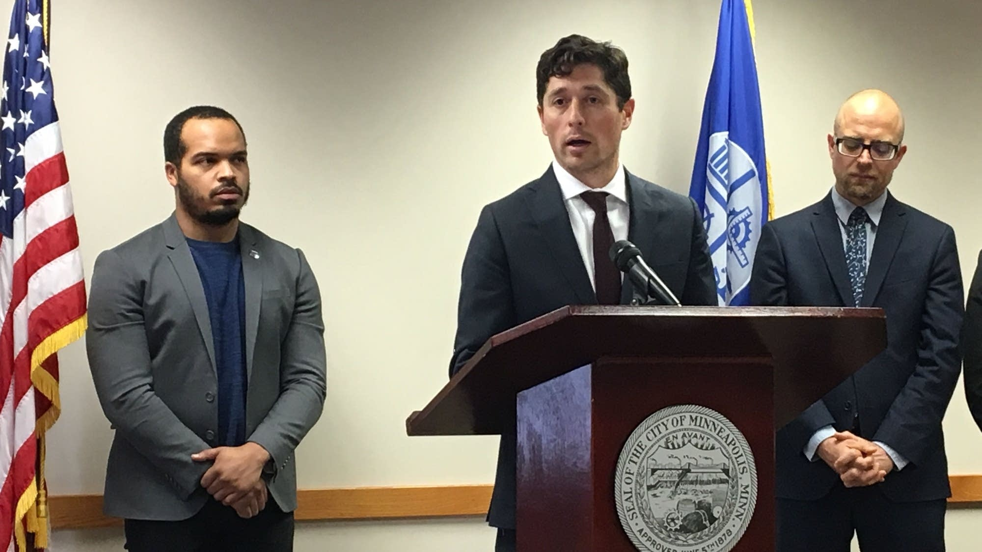 Minneapolis Mayor Jacob Frey announces the Ruszczyk family settlement