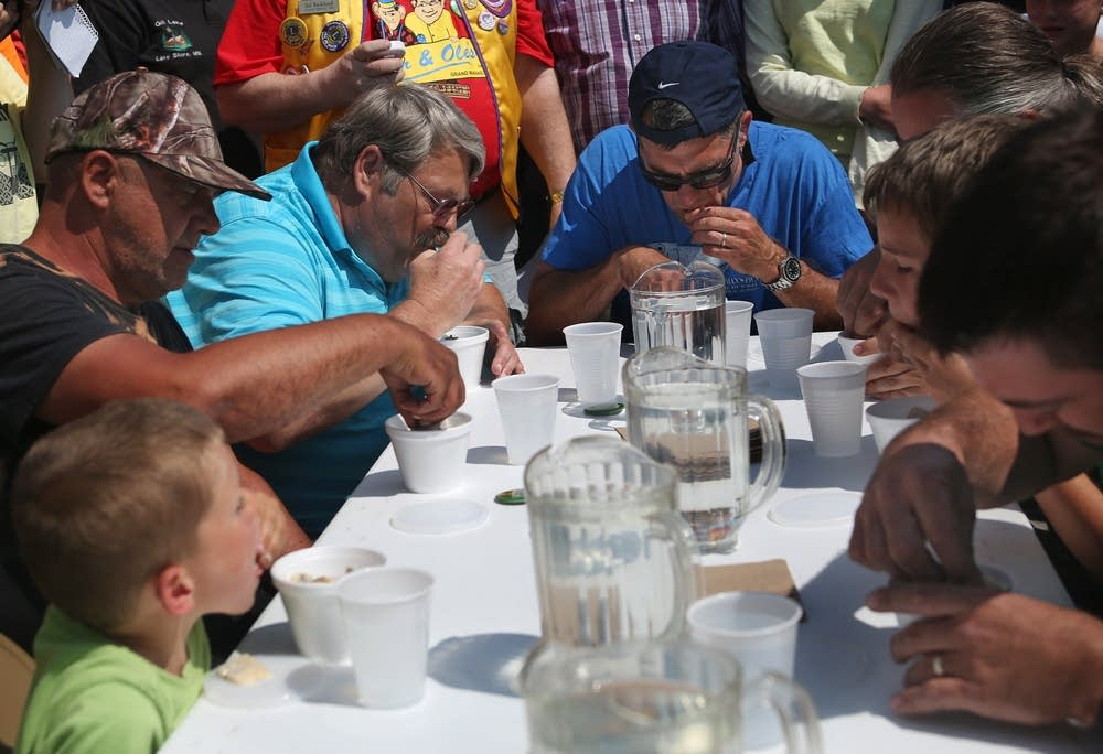 Pickled herring eating contest