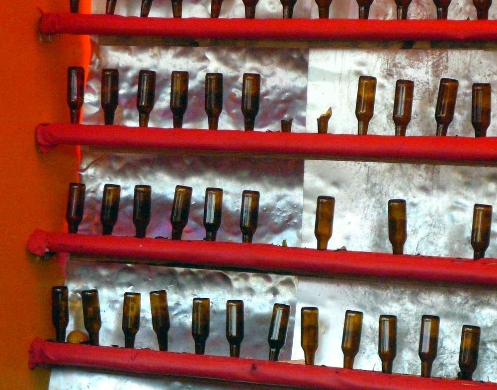 Smashed bottles