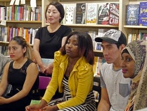 Kao Kalia Yang, young writers answered questions.