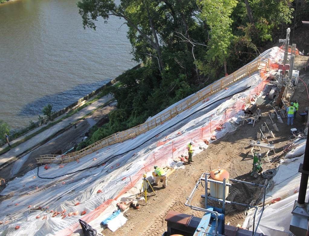 Crews work on repairing West River Parkway