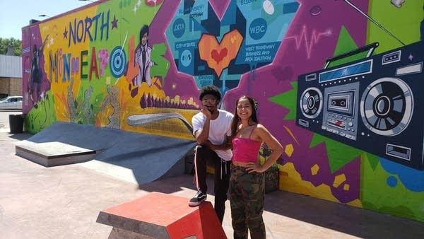 Bird Coulter and Qadiym Washington at Juxtaposition Arts' skate park