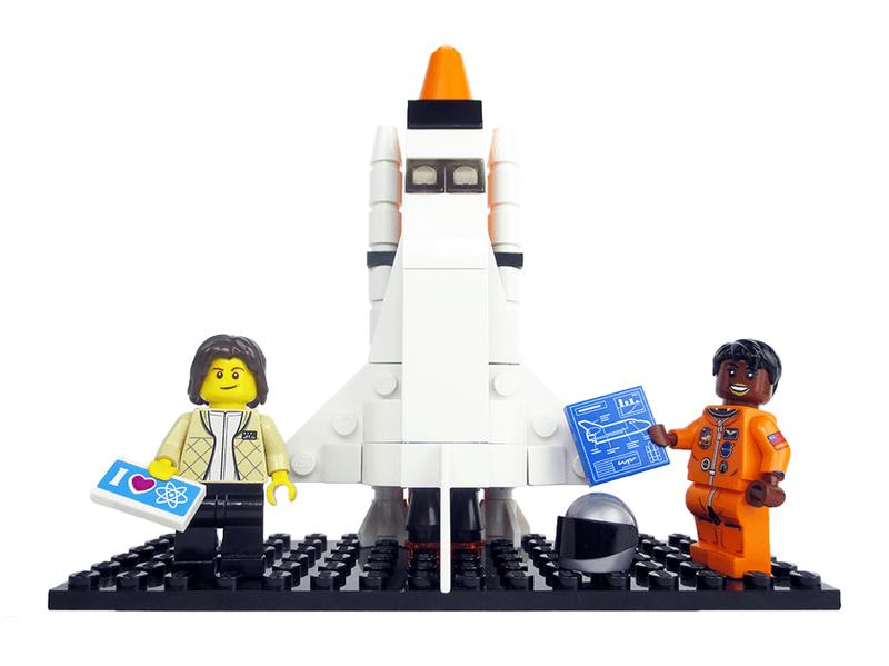 NASA astronauts Sally Ride and Mae Jemison