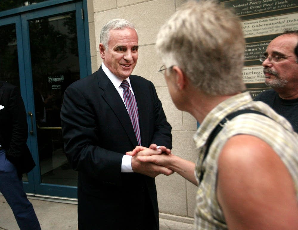 Dayton greets supporters