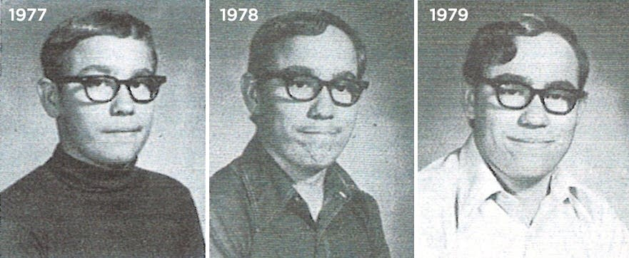 Danny Heinrich yearbook photos