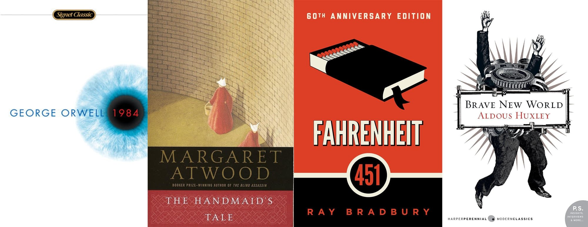 freedom in 1984 by george orwell brave new world by aldous huxley and fahrenheit 451 by ray bradbury