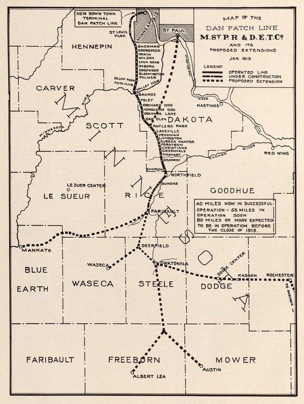 1913 Dan Patch route