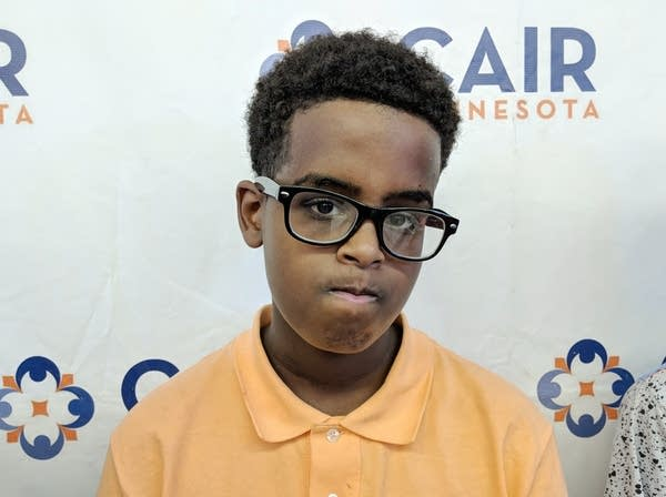 Abdijabar Ahmed, 13, is one of the boys detained by Mpls. Park Police.
