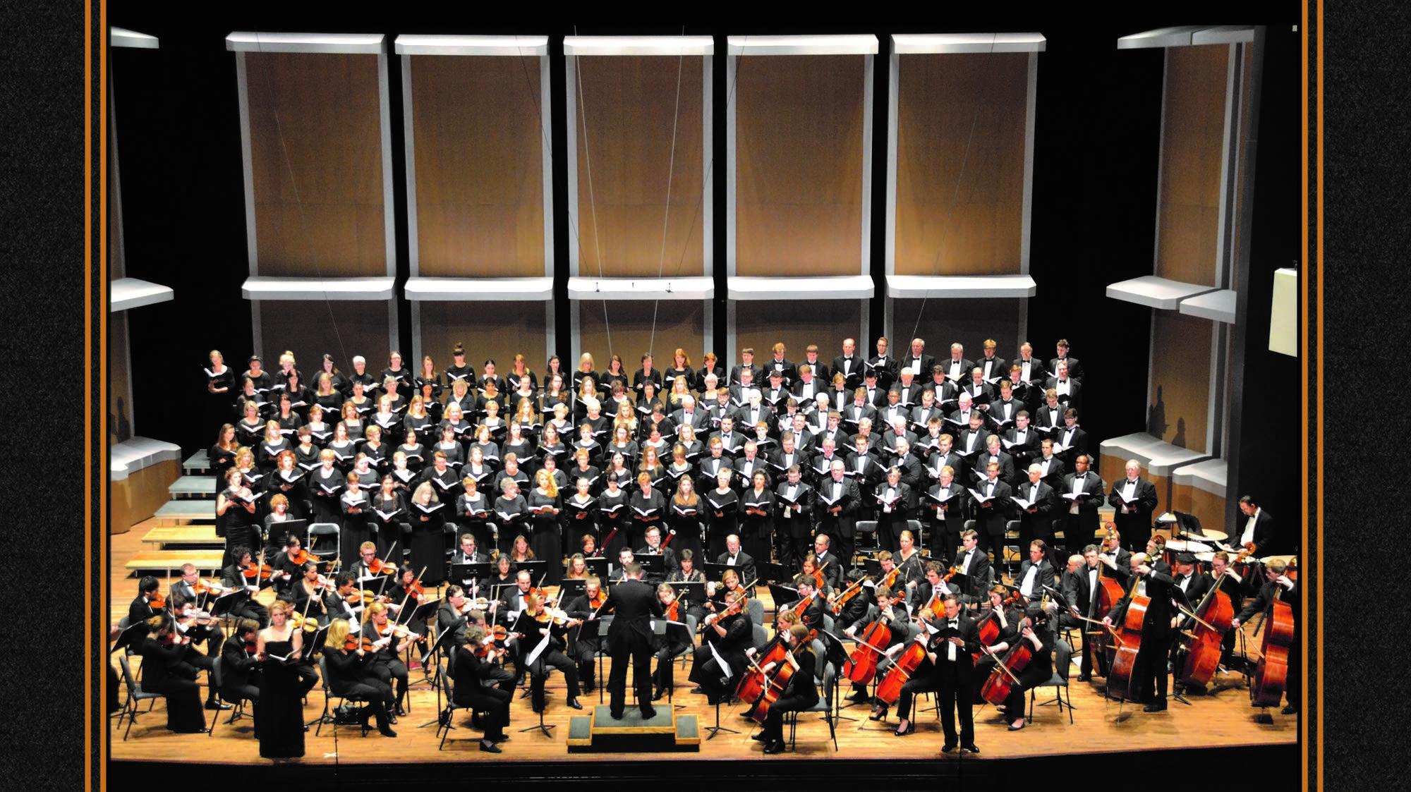 University of Minnesota Symphony Orchestra and choirs.