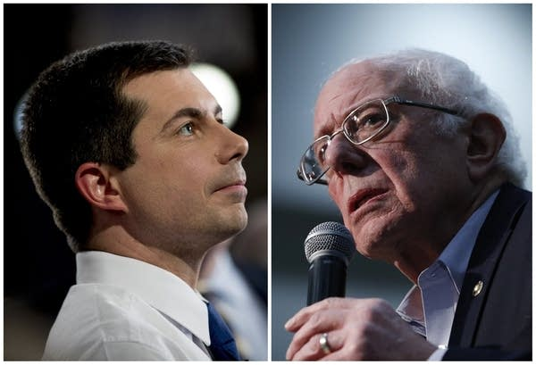 Pete Buttigieg and Bernie Sanders