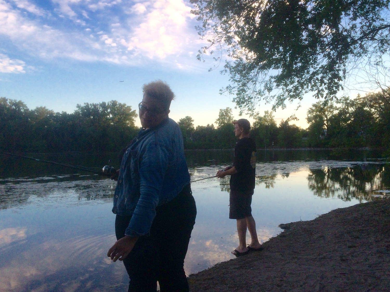 Brittany Howard and Jim McGuinn go fishing