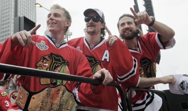 The Chicago Blackhawks and their hair