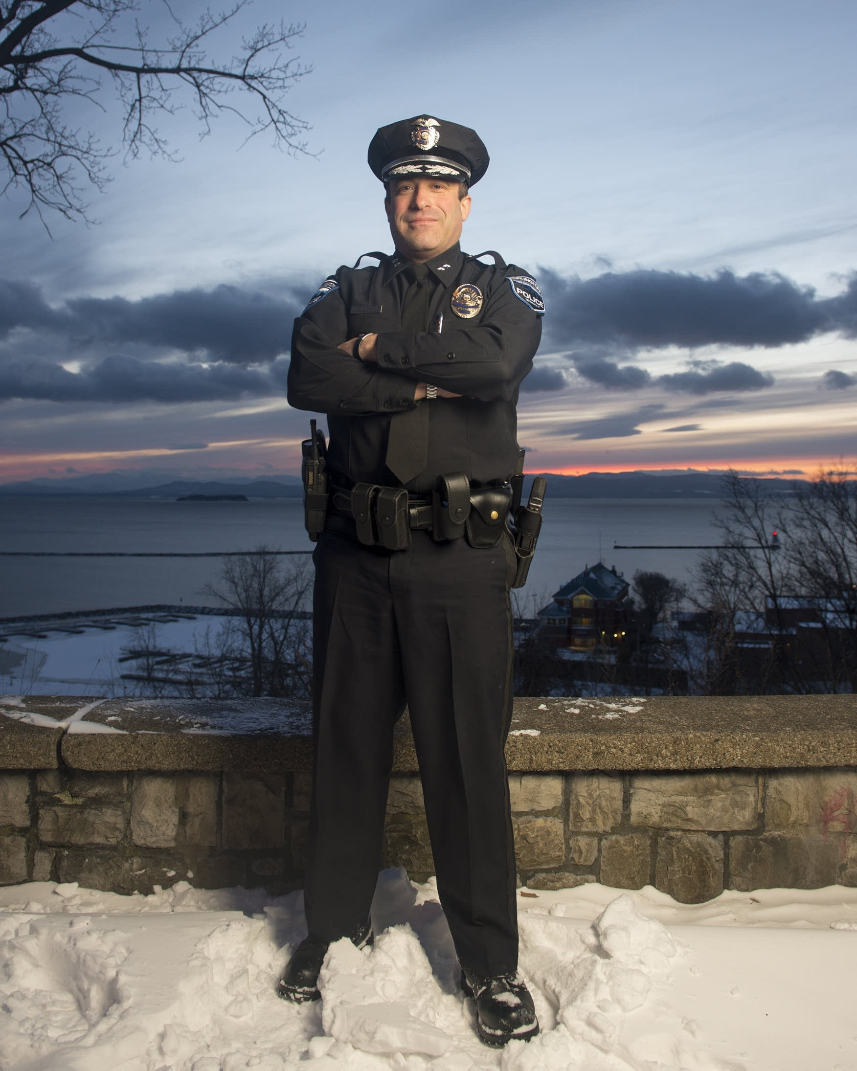 Burlington Police Chief Brandon del Pozo