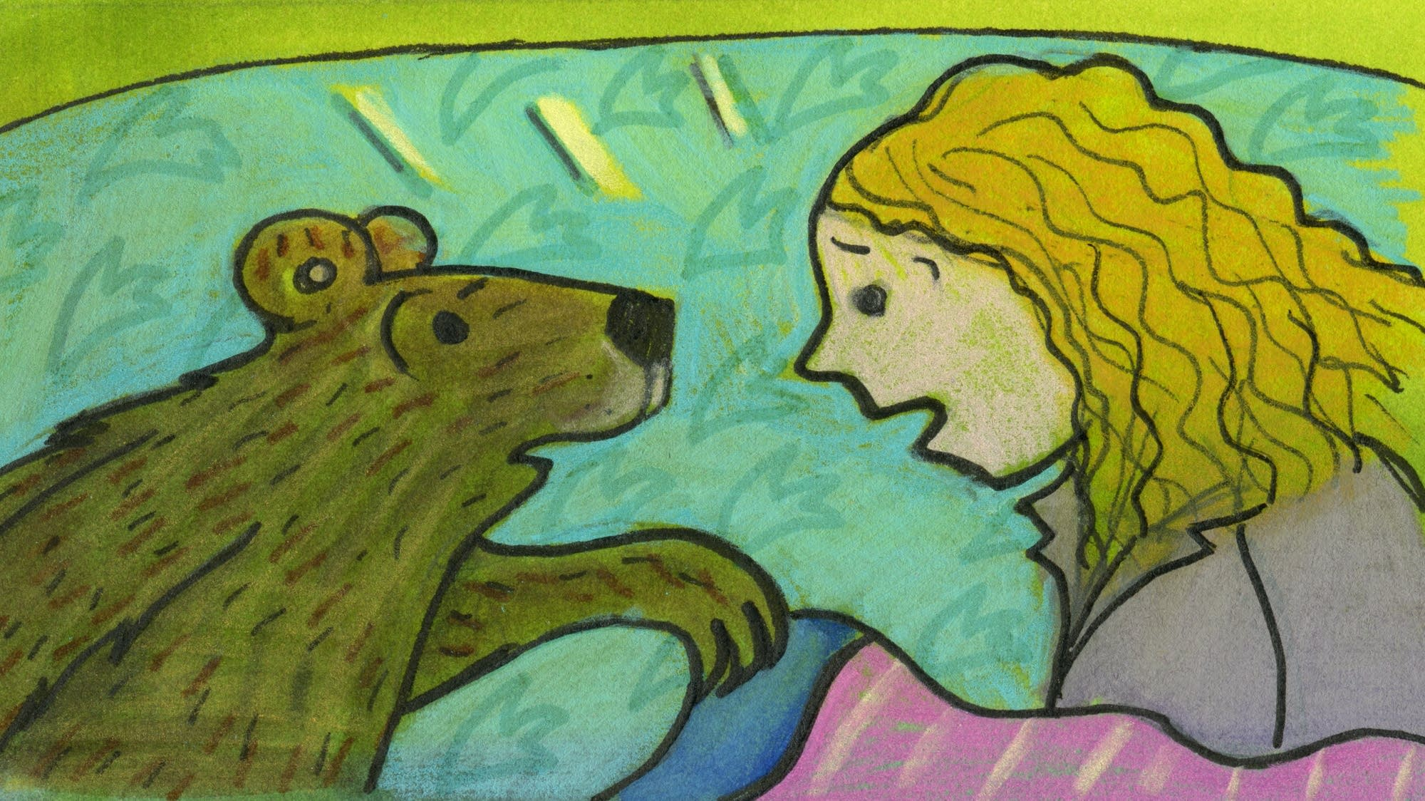 Goldilocks and the Three Bears: Baby Bear asked Goldilocks to stay.