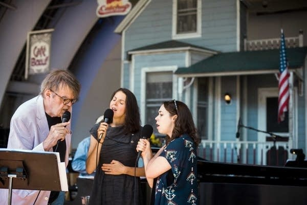 Garrison Keillor, Heather Masse and Sarah Jarosz