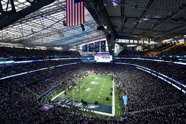 A view of U.S. Bank Stadium prior to kickoff.
