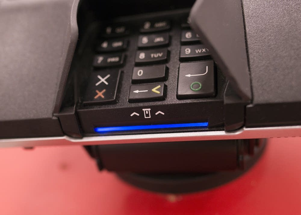A chip credit card reader