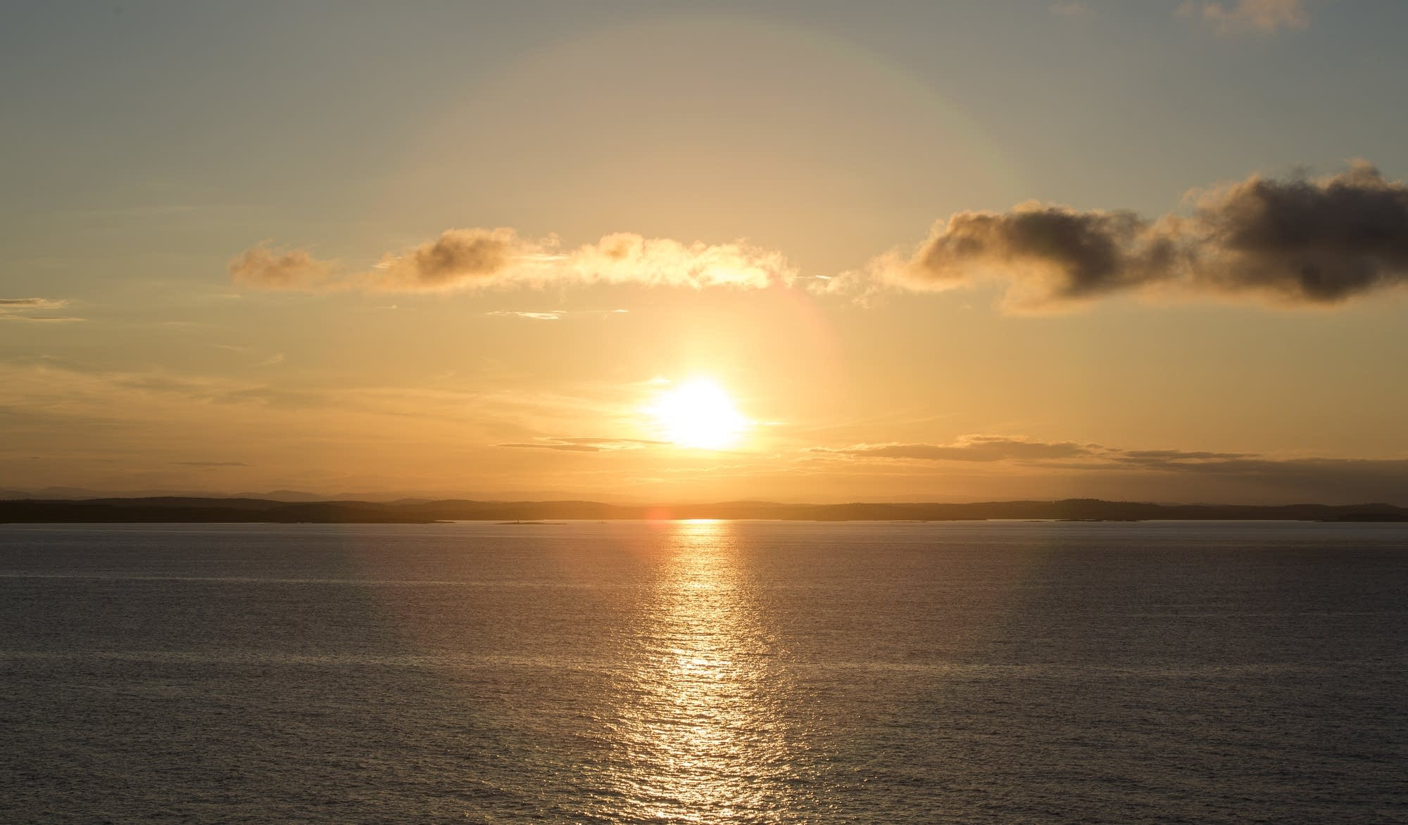 Oslo - 49 - sunset at sea