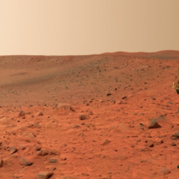 People walking in Mars