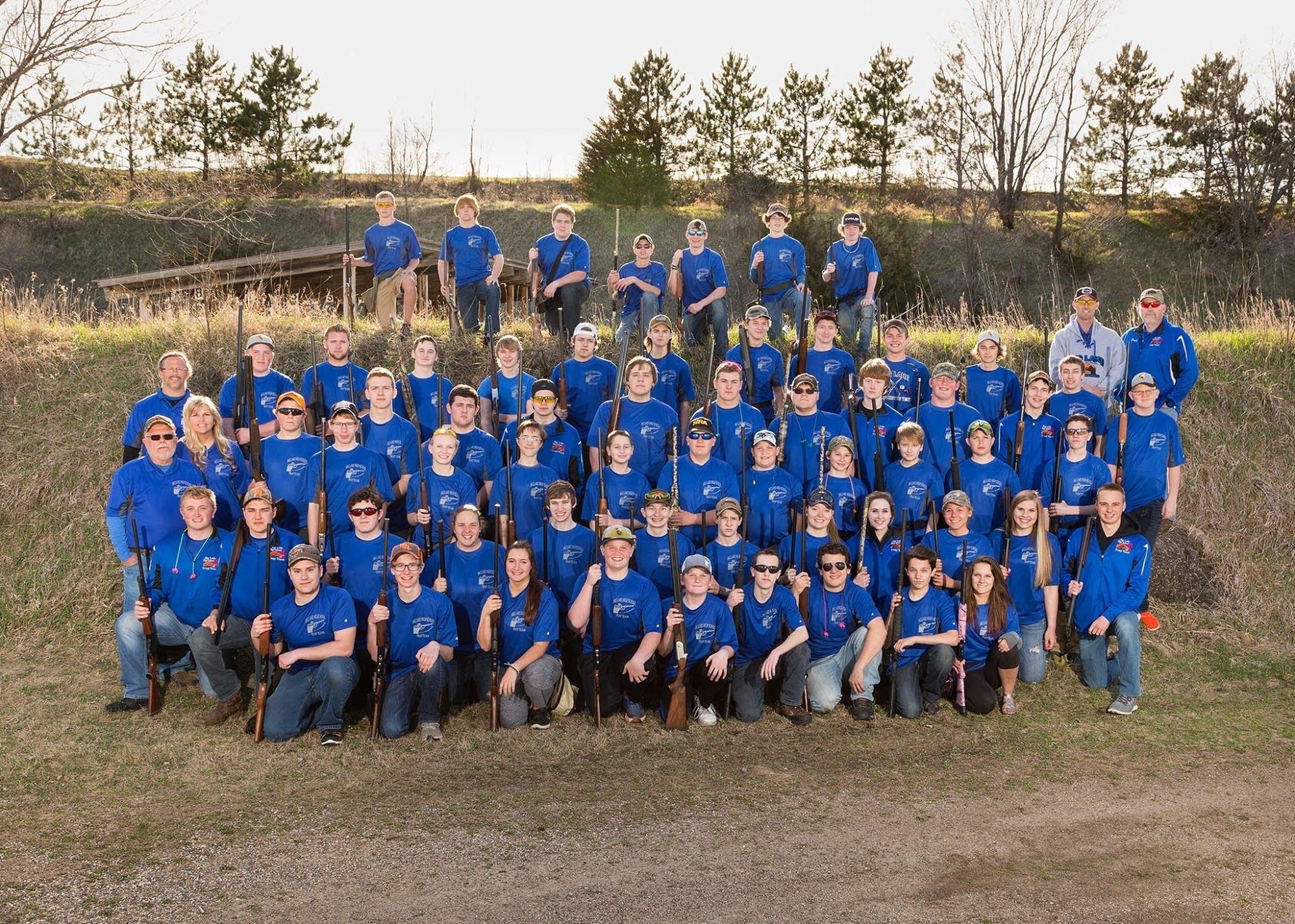 Big Lake High School's trapshooting team
