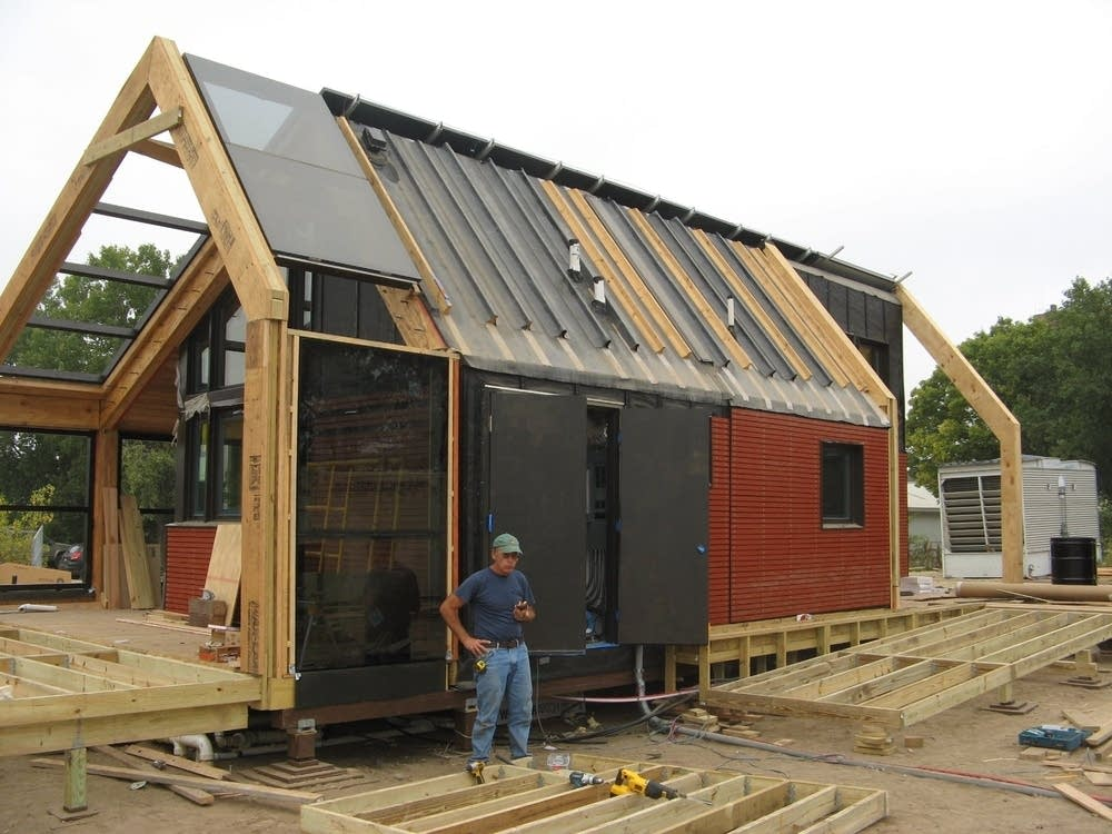 Another exterior view of the solar house