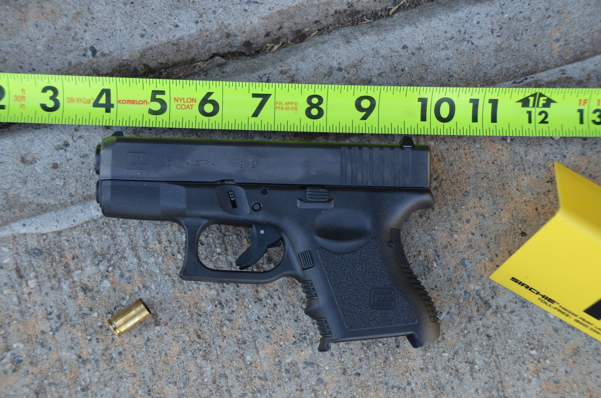 A gun involved in an accidental shooting