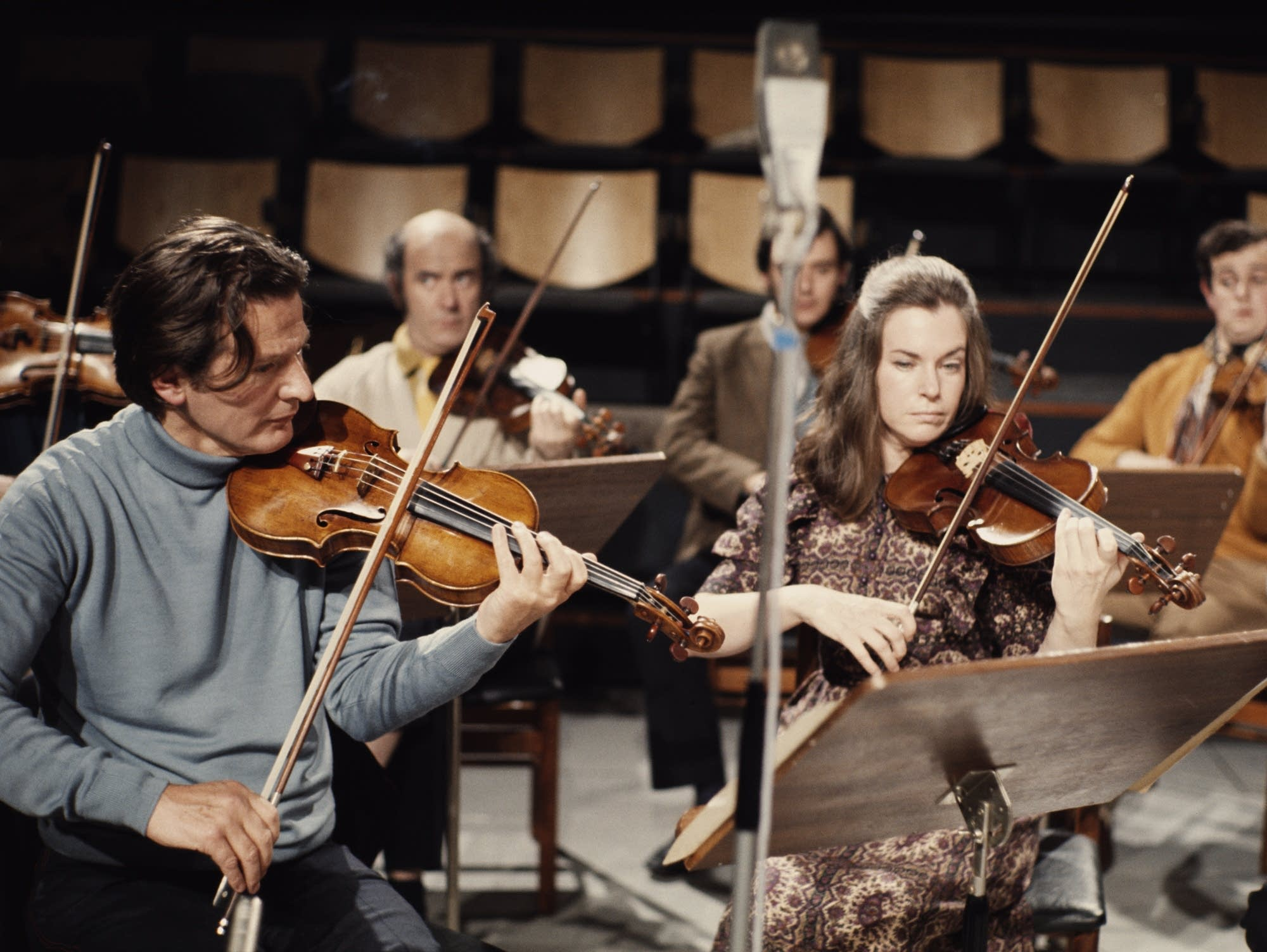 Marriner on violin, 1965