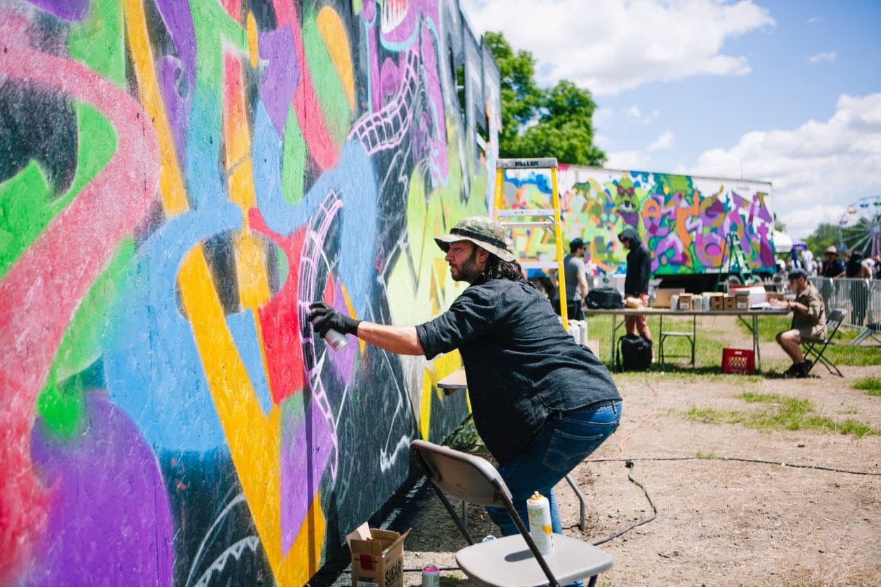 Live painting at Soundset 2017