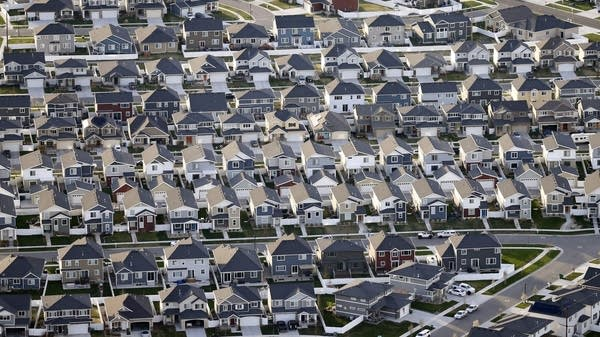 Rows of homes in suburban Salt Lake City