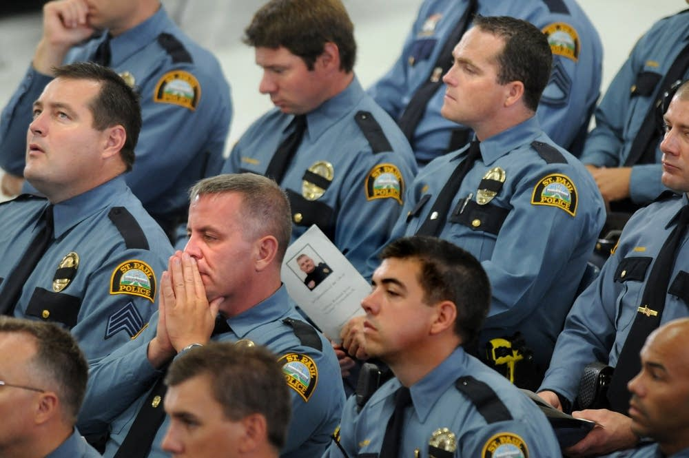 Officers listen