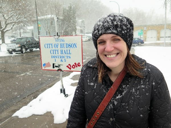 Erin Nelson said she's seen more enthusiasm among Democratic voters.