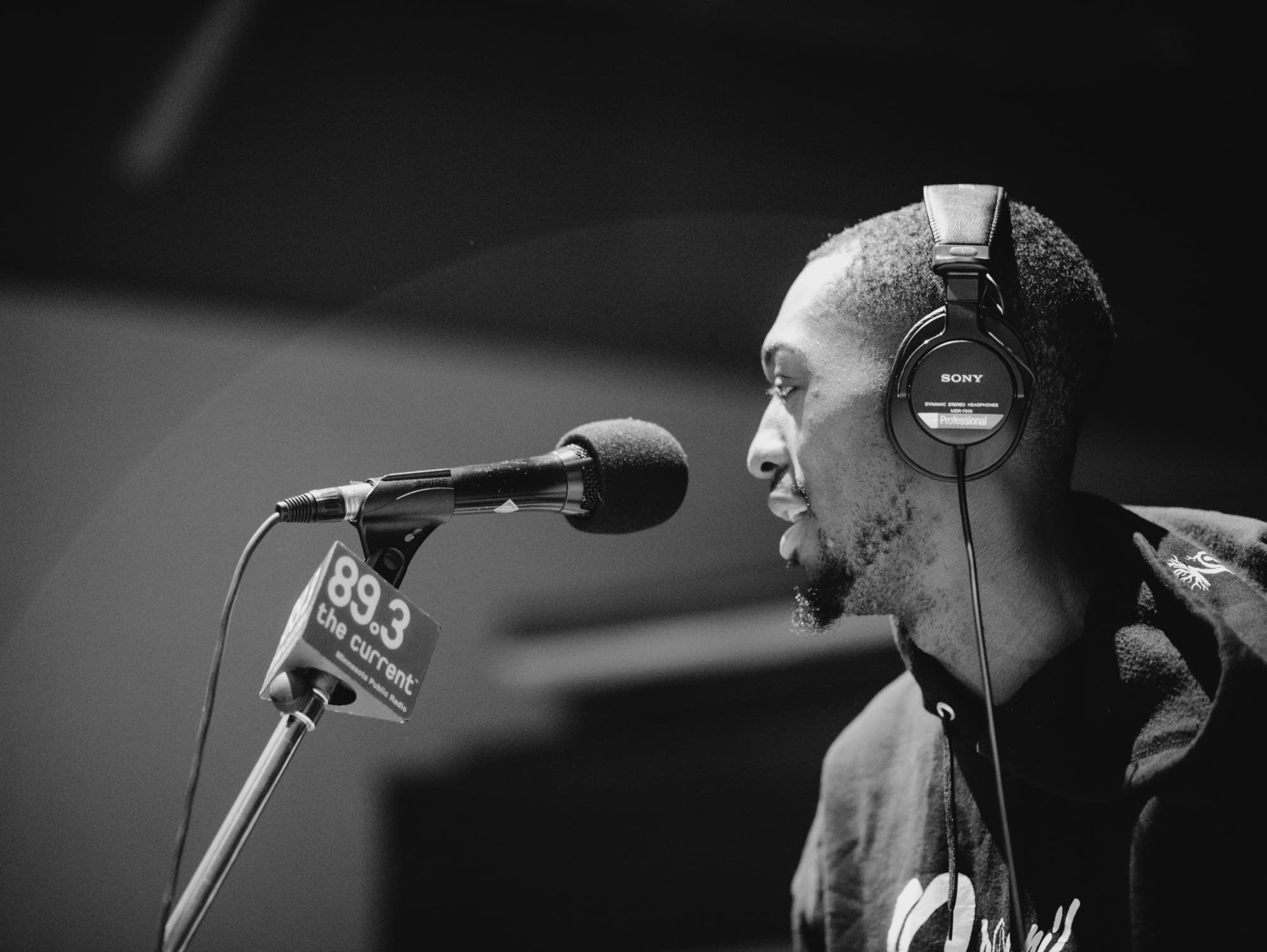Dwynell Roland performs in The Current's studios