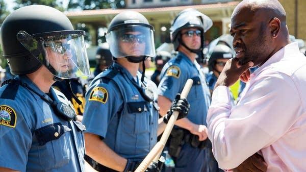 Minnesota Governor's Residence protest