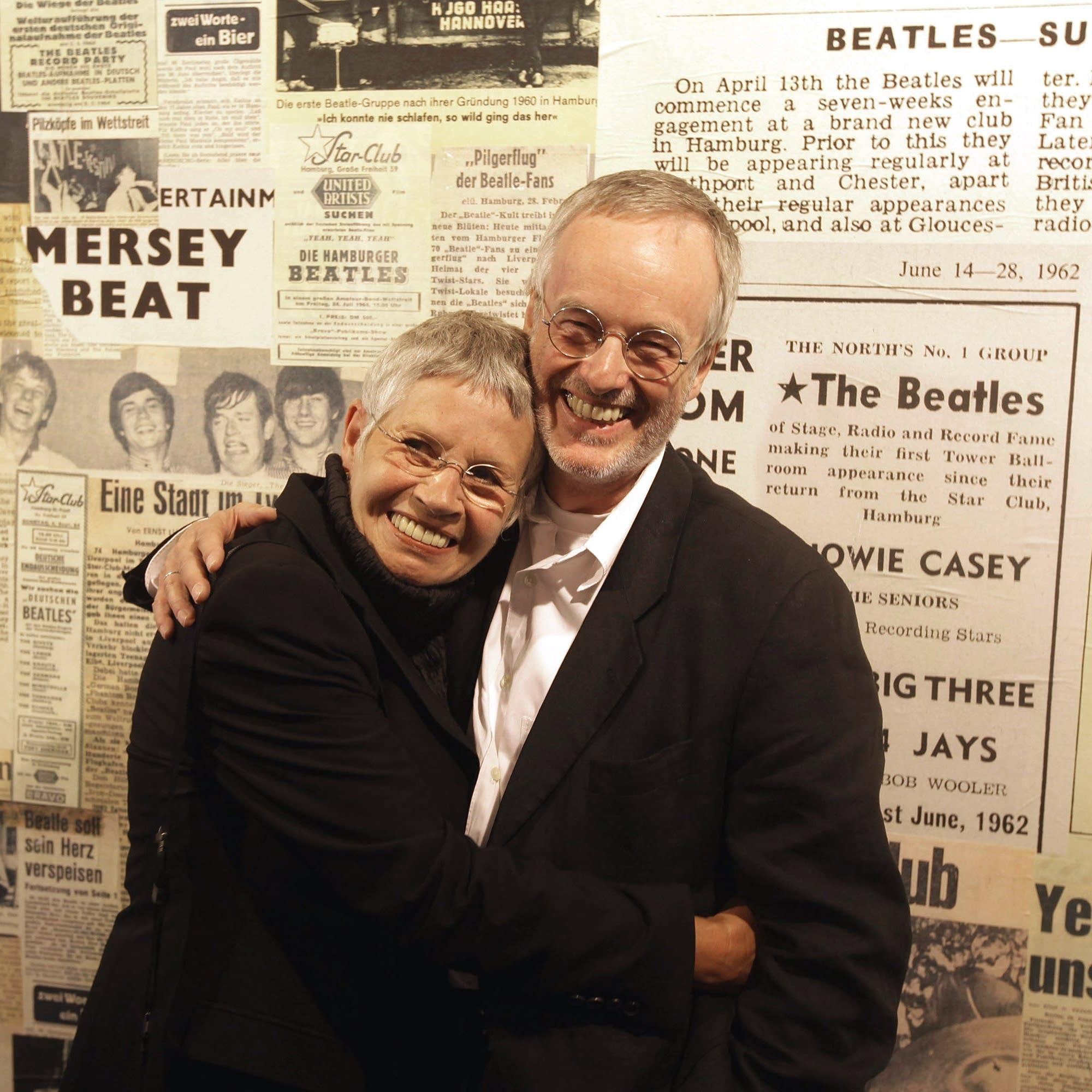 Astrid Kirchherr with Ulf Krueger, a fellow photographer, in 2009.