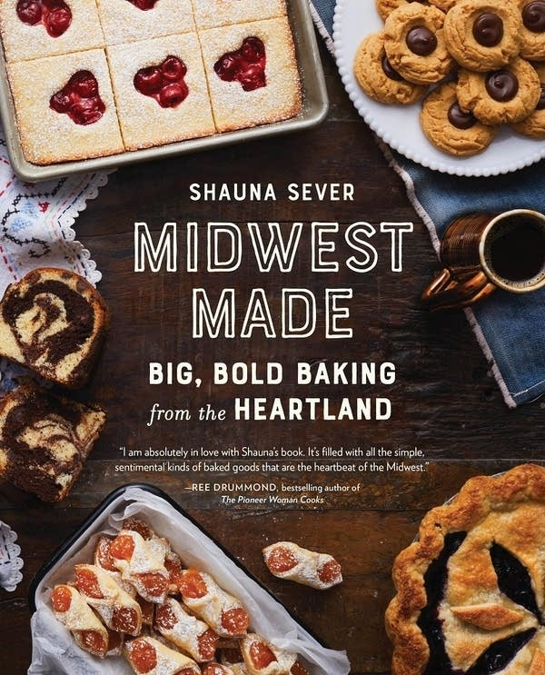 Midwest Made book cover with various dessert dishes on tabletop