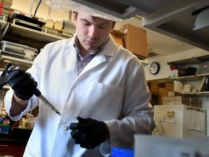 Mitch Kluesner is helping to find a cancer cure.
