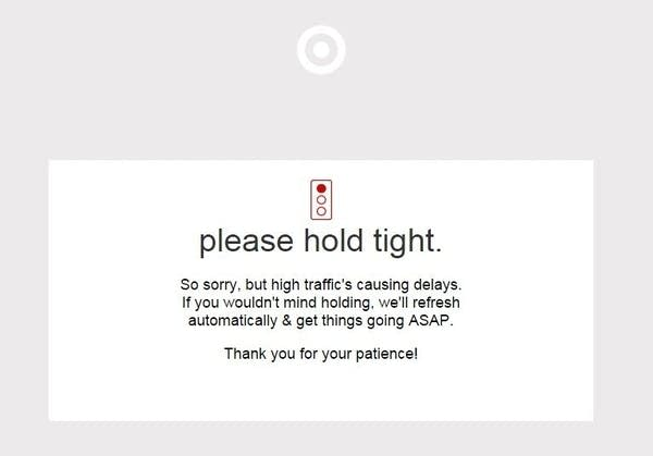 Target website down on Cyber Monday