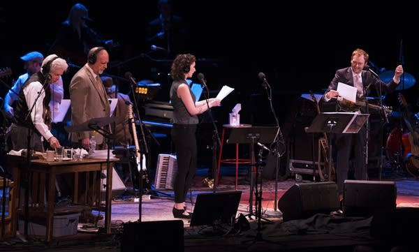 Fred Newman, Tim Russell, Serena Brook and Chris Thile