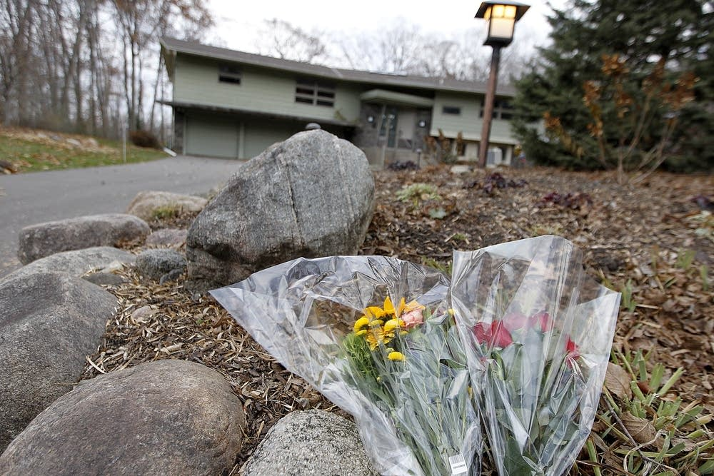 Flowers outside Orono home