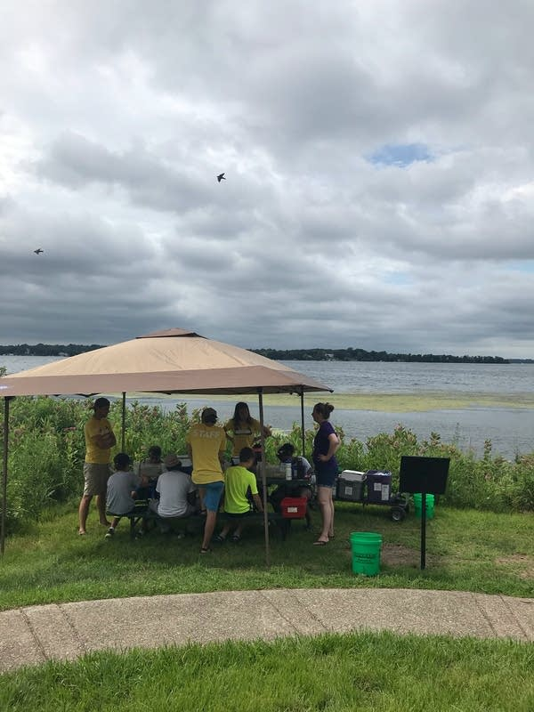 Students at YMCA Lake Exploration Camp on Lake Minnetonka
