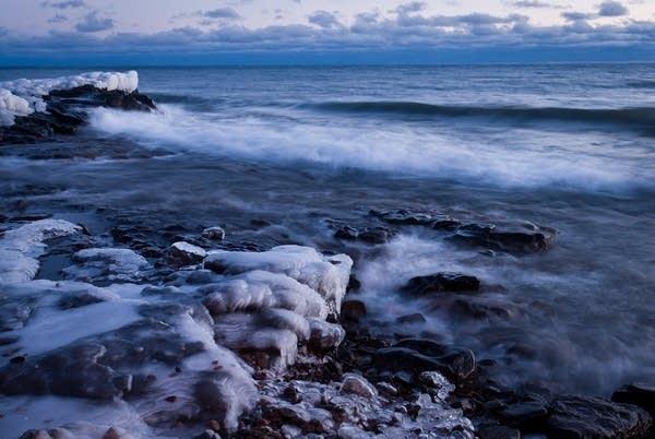 Lake Superior coast, Grand Marais in winter