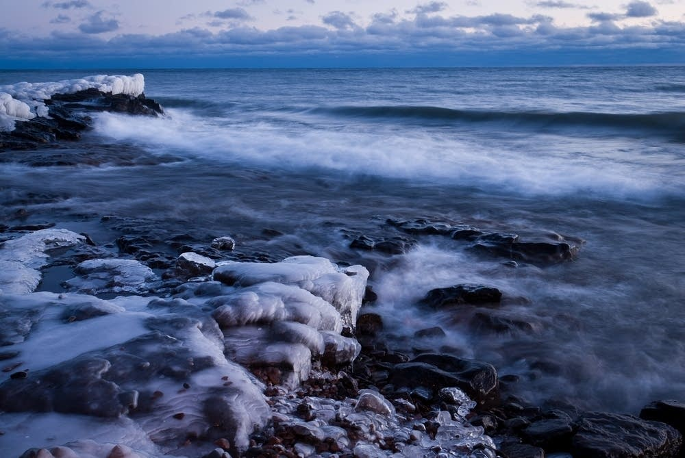 Lake Superior coast, Grand Marais in winter