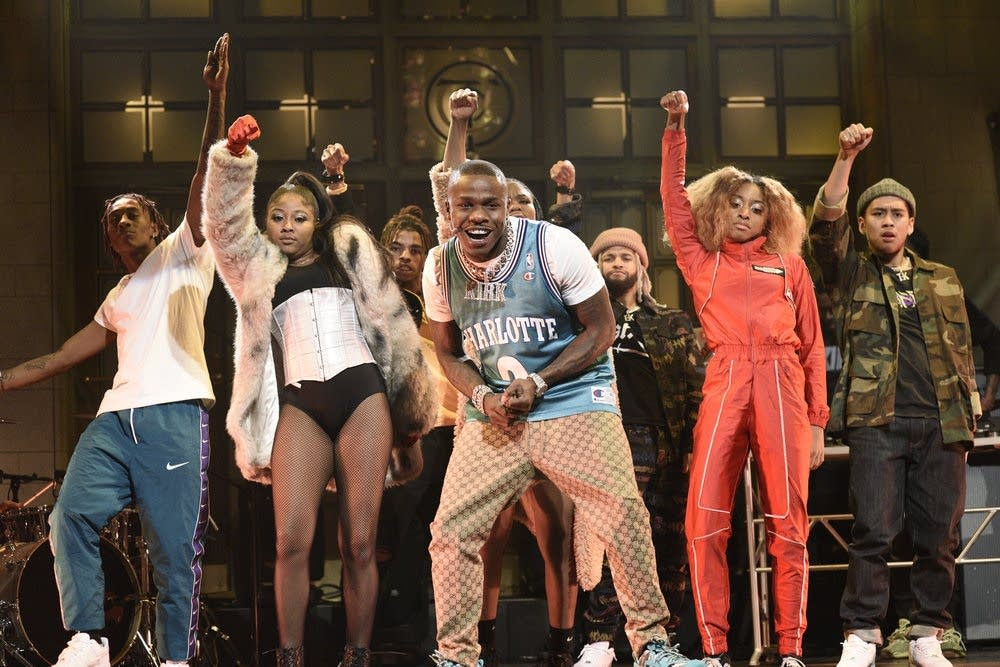 DaBaby performing on Saturday Night Live